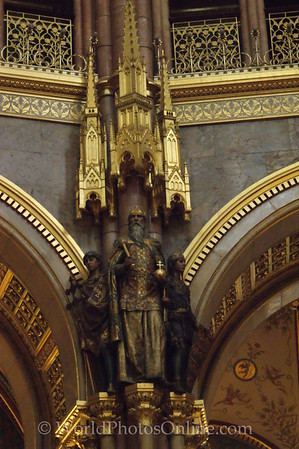 Budapest - Parliament Building - Central Hall Statue
