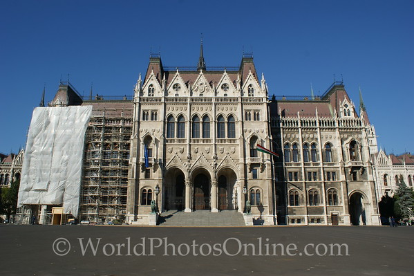 Budapest - Parliament Building - Front (under restoration)