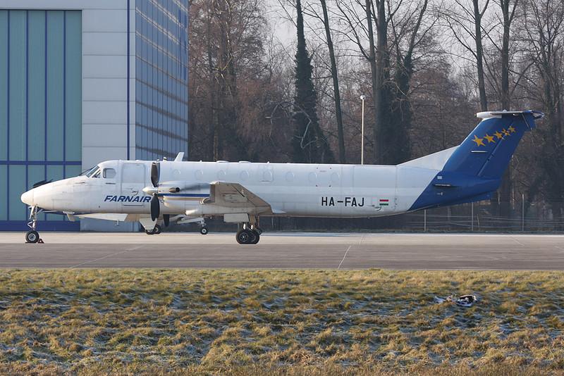 "HA-FAJ Beech 1900C-1 ""Farnair Hungary"" c/n UC-79 Monchengladbach/EDLN/MGL 30-01-09"