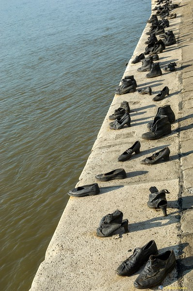 Memorial to Jewish Hungarians Executed, Danube Rv., Budapest, Hungary