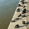 Memorial to Jewish Hungarians Executed, Danube Rv., Budapest, Hungary
