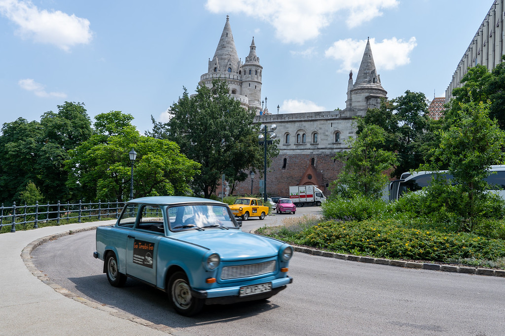 Trabant cars in Budapest