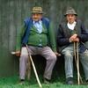 Old Men on bench<br /> Transylvania (Erdely), Romania