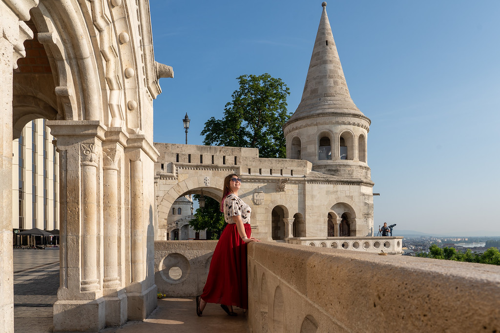 Amanda at Fisherman's Bastion in Budapest