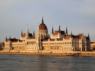 Hungarian Parliament building at sunset