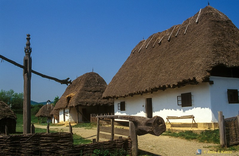 Traditional Thatched Roof Village<br /> Upper Tisza, Hungary