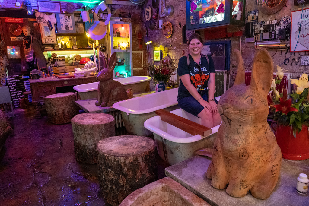 Bathtubs at Szimpla Kert ruin bar