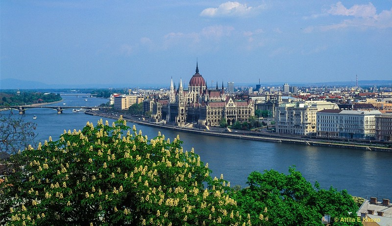 City view to Pest with Parliament House<br /> Budapest (Buda), Hungary