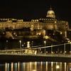 Castle and Chain Bridge at night.