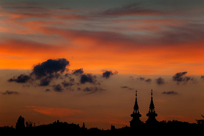 Colors of sunset. Budapest 2010.
