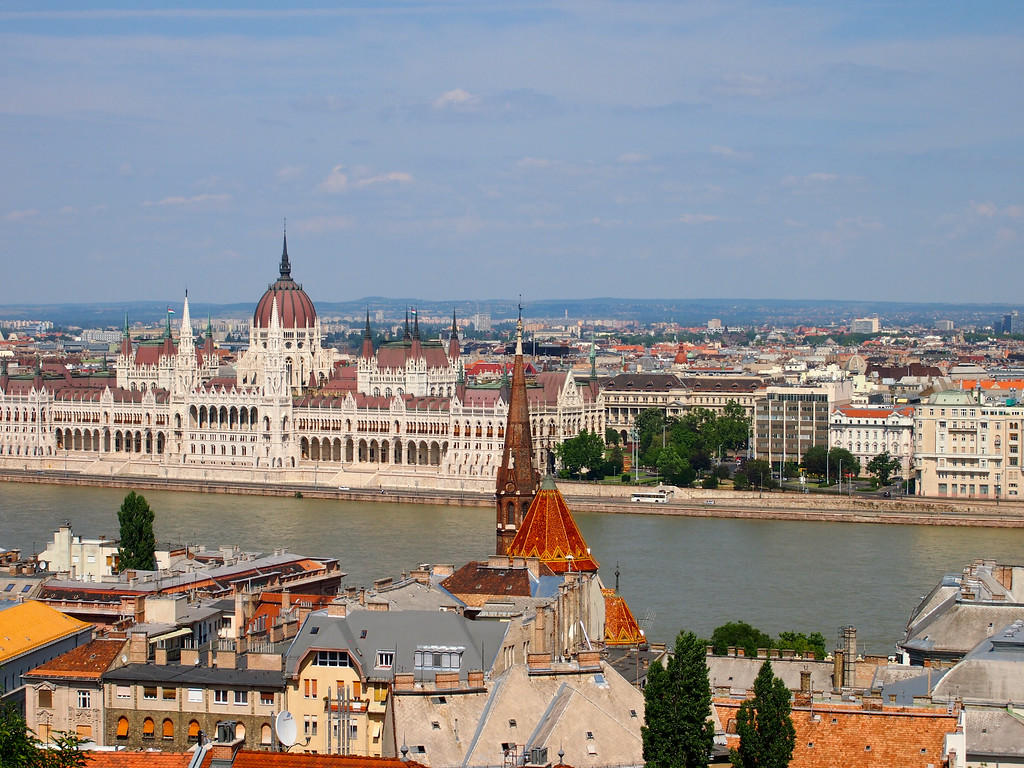 Budapest, Hungary on both sides of the Danube