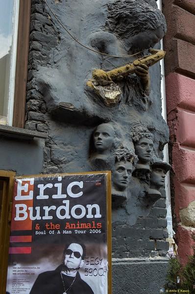 Streetscape / Eric Burdon Poster - Budapest, Hungary