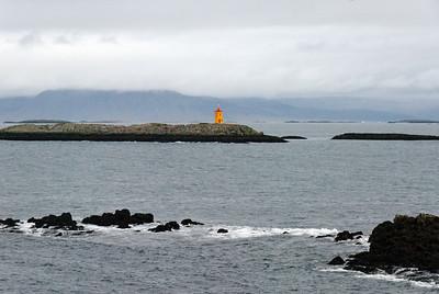 West Coast - Cliffs around Flatey harbour