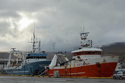 West Fjords - Fishing trawlers at Isafjoerdur