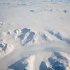 glacier beneath snow in Greenland