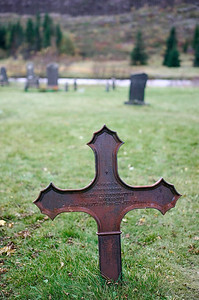 iron grave marker