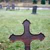 iron grave marker