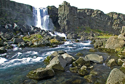 Axarafoss waterfall