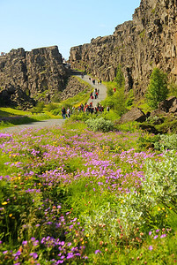 The rift valley at Thingvellir National Park