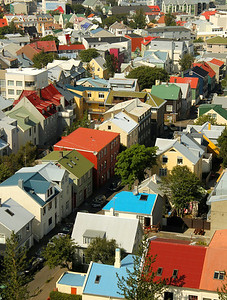 The colorful city of Reykjavík