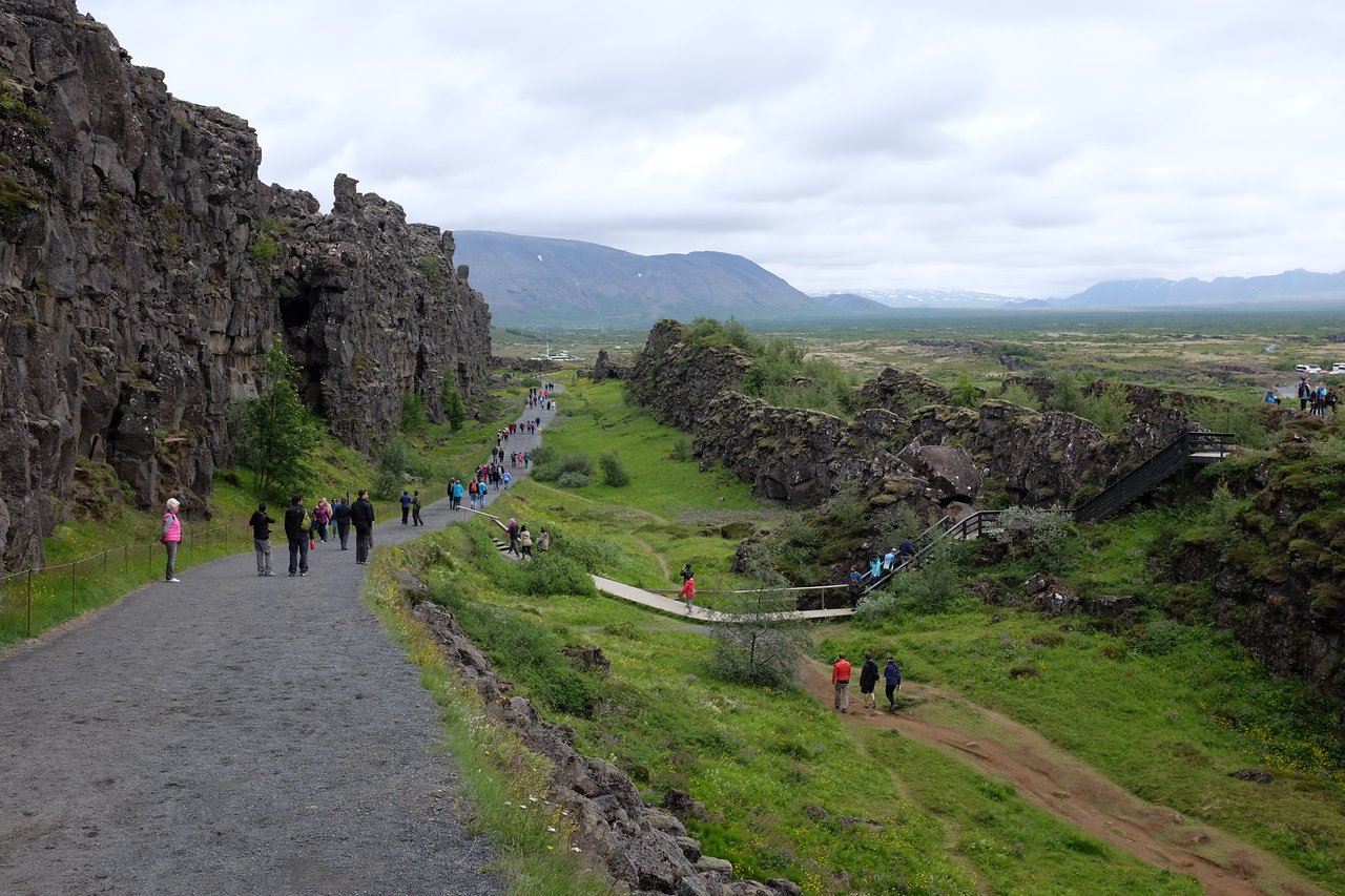 Þingvellir: the Almannagjá, the most prominent fault in the valley