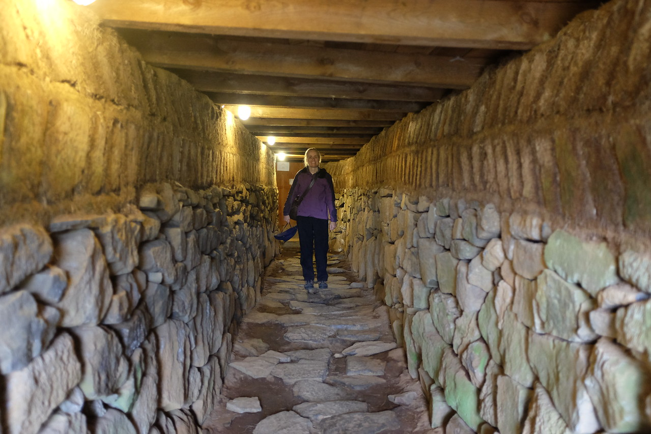 Skálholt: tunnel from the church to the site of the school