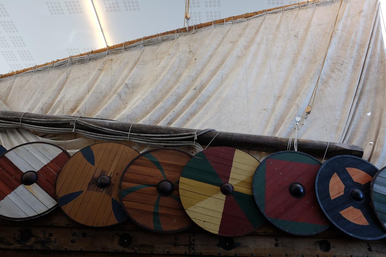 Hull, shields, and sail