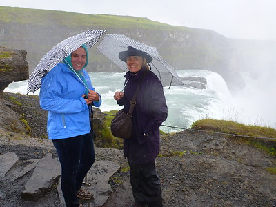 In the rain at Gullfoss