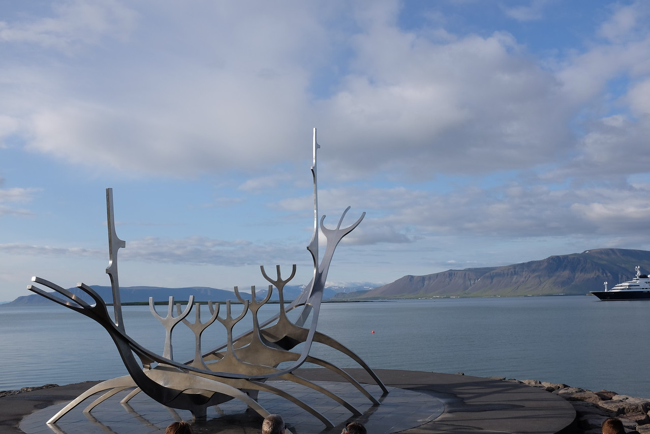 Viking ship conceived as a set of forks