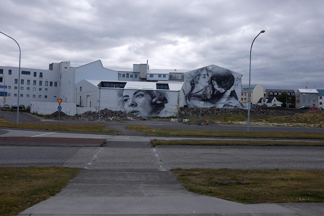 Mural seen on a bike ride around Reykjavik