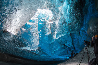 But the beauty of the ice caves cannot be imagined Note how small the photographers are