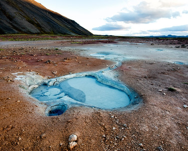 Yet another scene of volcanic activity and geyser hot springs outside Husavik