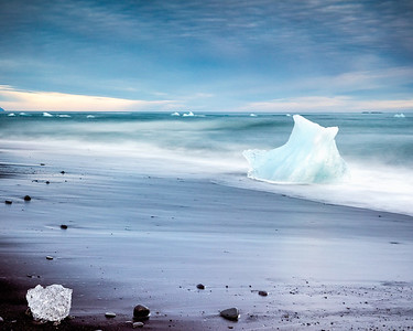 There is endless beauty to be seen in the ever changing ice washed back up on the beach at Jokulsarlon