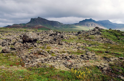Snaefellsjokull, Raudholl and Hreggnasi in distance