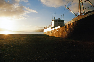 Fishing boat run aground, Patreksfjordur