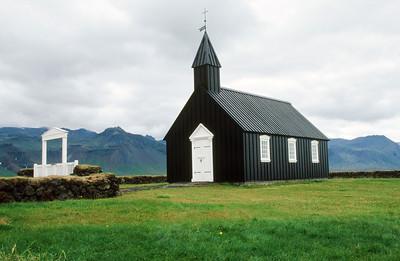 Black church near Budir