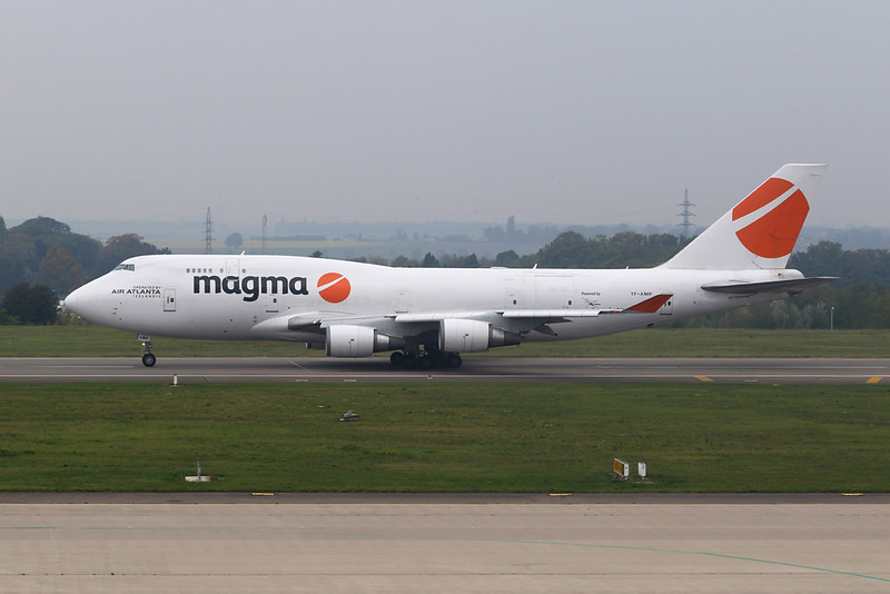 "TF-AMP Boeing 747-481BCF c/n 24801 Liege/EBLG/LGG 18-10-20 ""Magma"""