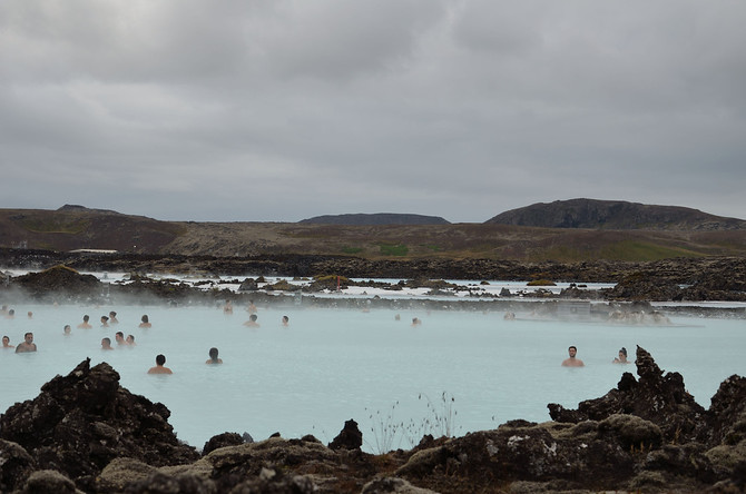 Blue Lagoon in the lava field