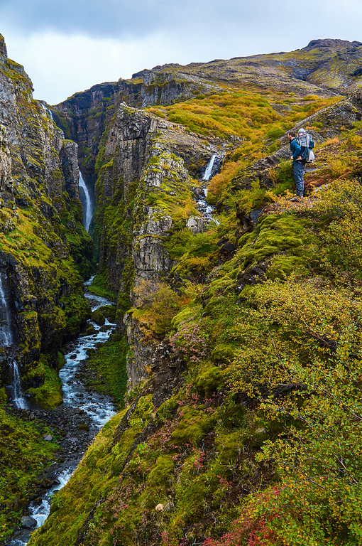 View of Glymur in Iceland
