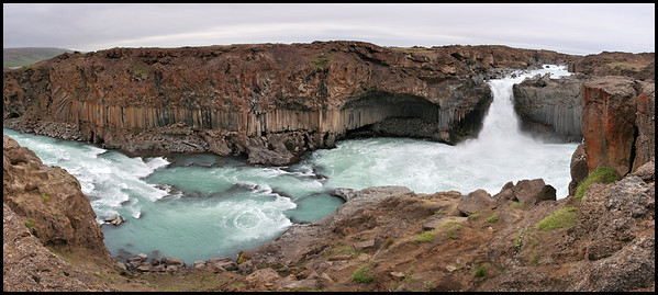 Aldeyarfoss panorama
