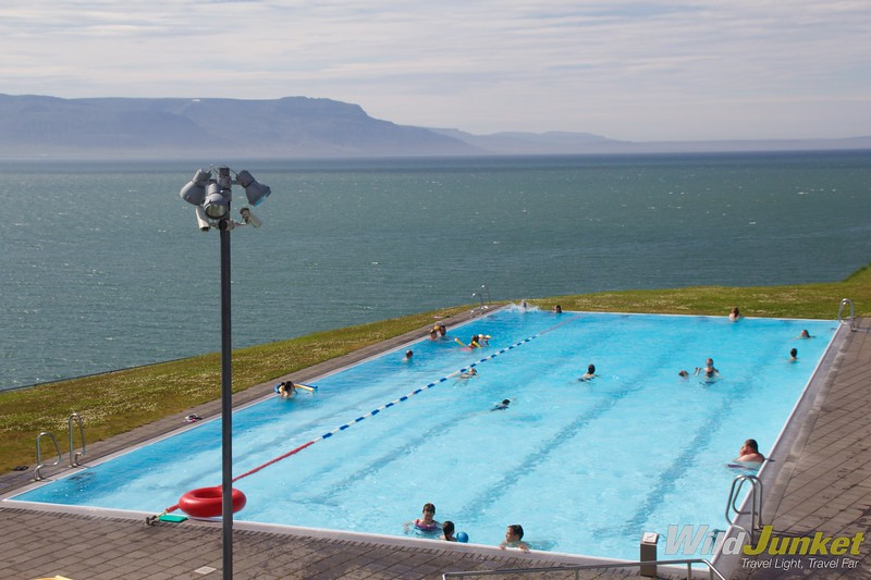 iceland ring road itinerary - swimming pool
