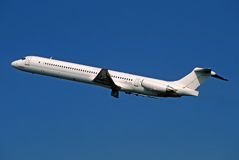 "TF-JXA Douglas MD-82 ""JetX"" c/n 49555 Amsterdam/EHAM/AMS 22-04-05 (35mm slide)"