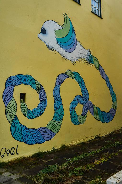 Mural by Sara Riel in Reykjavík, Iceland