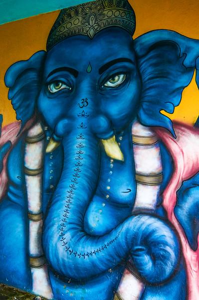Ganesh mural in Reykjavík, Iceland