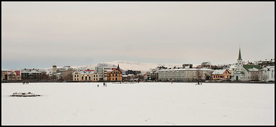 Tjörnin in winter
