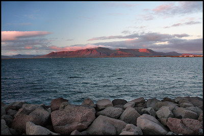 Mount Esja from Reykjavik harbour