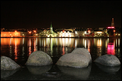 Tjörnin at night