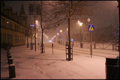 Snowy Night in Reykjavik