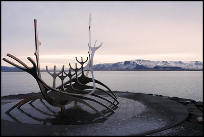 Viking ship sculpture, Reykjavik