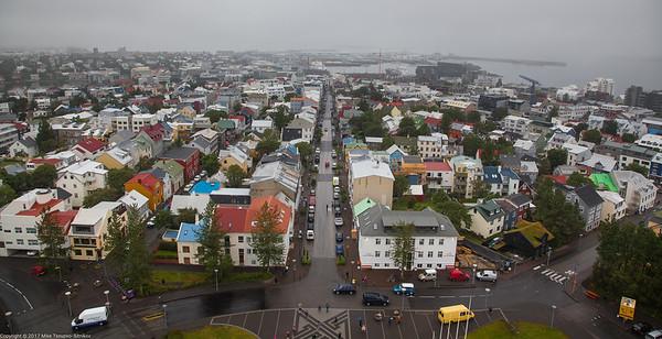 A View from Hallgrimskirkja Church in Reykjavik